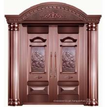Luxo de alta qualidade 100% puro cobre villa porta principal