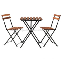 Juego de mesas al aire libre Bistro Incluye 1 mesa y 2 sillas