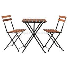 Conjunto de mesa de Bistro ao ar livre, incluindo 1 mesa e 2 cadeiras