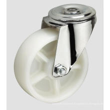 4inch Industrial Caster White PP Ball Caster Without Brake