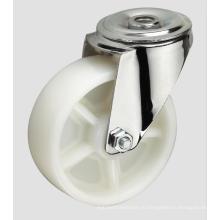 4-дюймовый Промышленный Рицинус Рицинус Белый шар ПП без тормоза