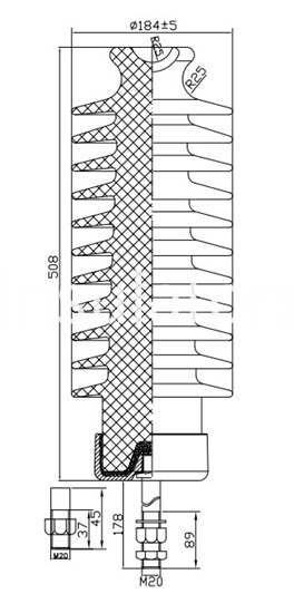 57-5 line post insulators