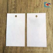 Etiqueta recicl luxuosa do cair de papel de vestuário do logotipo da venda 2018 quente