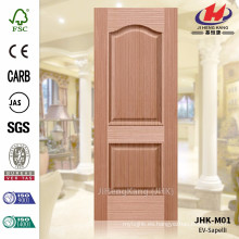 JHK-M01 Textura en relieve Textura de Madera Grano de Madera Sapelli Molded Door Skin Supplier