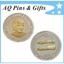 Sterling Silber Münze mit 2 Ton Überzug