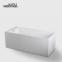Rectangle Modern Bathroom BathTub Berdiri Bebas dalam Warna Putih