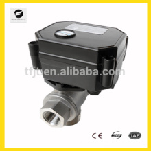 3-6VDC low voltage motor control ball valve for solar heating system