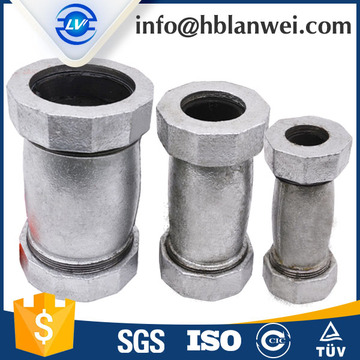 HEX MALLEABLE IRON PIPE FITTINGS JOHNSON COUPLINGS