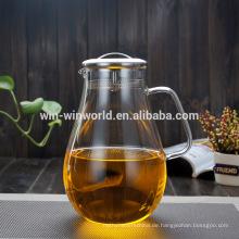 Bluk Large Restaurant Cooling Großhandel Glas Teekannen mit Infuser
