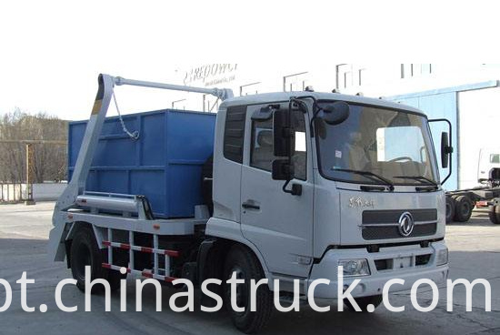 Middle swing arm rubbish truck