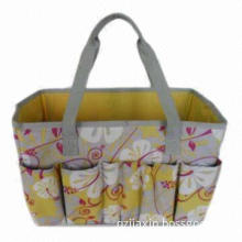 Flower garden tool bag/18 exterior pockets with a pair of webbing handle