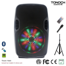 8 polegadas Professional Speaker Portable Portable com Programa RGB Light
