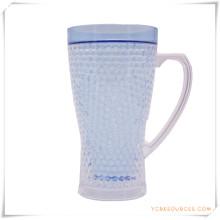 Double tasse givrée de mur tasse de bière de glace congelée pour des cadeaux promotionnels (HA09070-2)