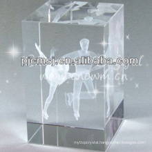5*5*8cm beautiful crystal 3D laser cube for gift CM-CCB001