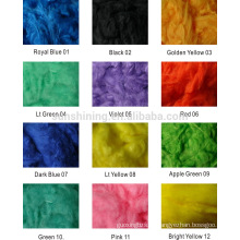 Вискоза Штапельного волокна цвет окрашенных быстрая отгрузка, небольшой заказ приемлемо