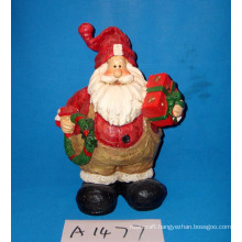 Christmas Decoration Resin Santa Claus with Gifts