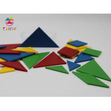 Plastic Puzzle Pieces, Plastic Tangrams for Game