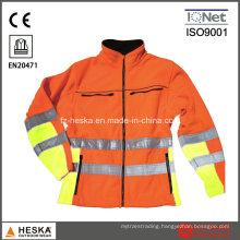 Polar Fleece Safety Softshell Jacket