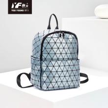 La última mochila geométrica de la prenda impermeable del bolso del viaje del enrejado del diamante de la mochila para la escuela