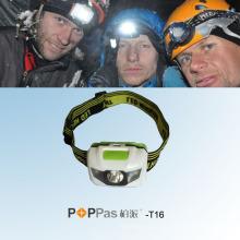 Горячее промотирование водоустойчивое 1W наивысшая мощность СИД фара (POPPAS-T16)