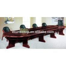Holztisch für Holzveredelung, Doppelschicht Konferenztisch Schreibtisch (T01)