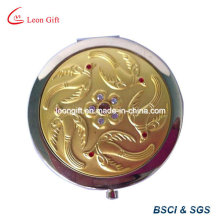 Etched Round Zinc Alloy Makeup Mirror Promotion