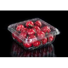 Caja de embalaje de fruta transparente apilable