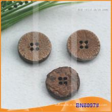 Botões de coco naturais para vestuário BN8097