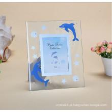 Novo design produtos coloridos quadro foto cristal vidro foto moldura
