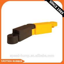 Separador de seguridad vial de caucho negro y amarillo de 400 mm de longitud