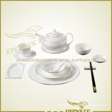 11 PCS Stained Ceramic Tableware Platinum Stone Lines Set