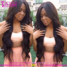 Лучшие продажи человеческих волос полный парик шнурка 100% девственницы бразильские дешевые человеческих волос парик
