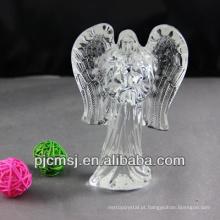 belo enfeite de cristal, anjo de cristal para presentes e lembrança