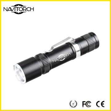 Rechargeable Zoom 18650 Battery Flashlight Utilisation à l'extérieur (NK-6620)