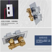 Ensembles de douche thermostatique à la forme rectangulaire