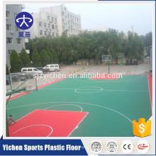 Outdoor interlock sports flooring PP material basketball interlocking flooring