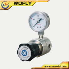 "Stainless steel back pressure regulator 1/4"" NPT gas cylinder regulator"