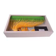 Caja de conexiones de fibra óptica montada en bastidor, caja de distribución de 19 pulgadas de PLC