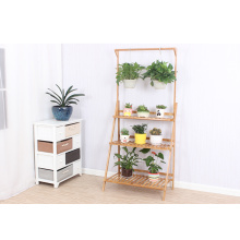 China Supplier for Poster Display Stands Balcony Floor Standing Bamboo Flower Rack export to Andorra Exporter