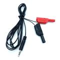 3.5mm stereo plug to dual banana plug cables