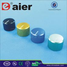 A-2014 blanc index en alliage de zinc bouton moleté bouton de guitare potentiomètre noir