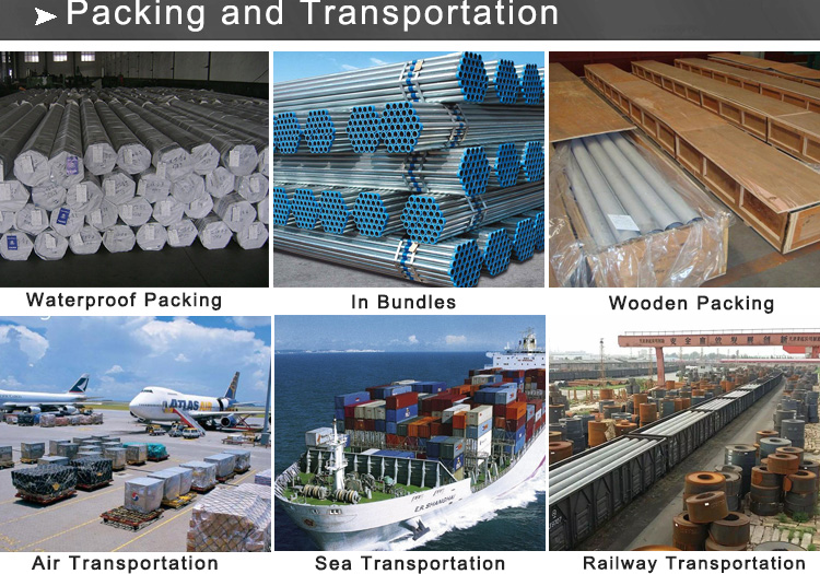 galvanized pipe packing and transportation