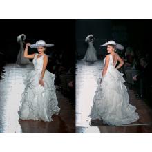 Европейский Дизайн Рябить Органзы Свадебное Платье