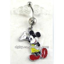 belly piercing jewelry navel ring mickey body jewelery