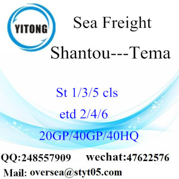 Shantou Port Sea Freight Shipping Para Tema