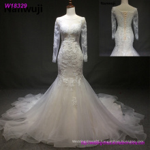 Sexy Ivory Lace Long Sleeve Backless Bohemian Wedding Dresses Summer Court Train Flow Chiffon Plus Size Beach Bridal Gowns