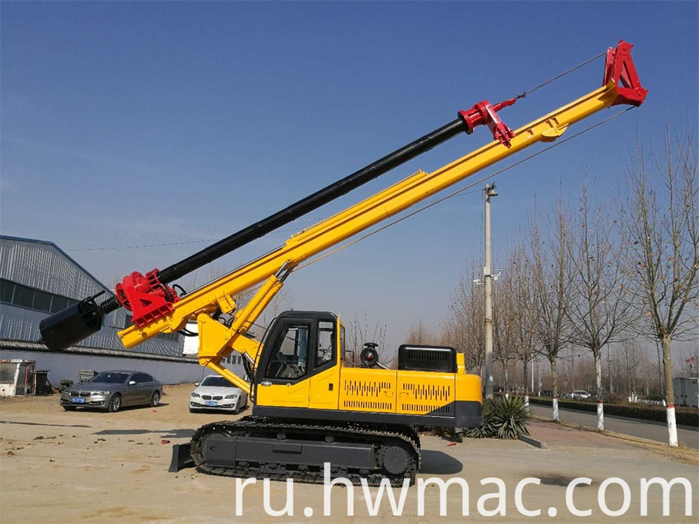 Lock Rod Crawler Rotary Screw Drilling Rig 1