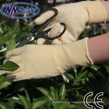 NMSAFETY 15g nylon + luvas de nitrilo spandex revestido / nitrilo jardim luvas