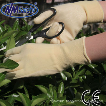 NMSAFETY 15g nylon+spandex nitrile coated gloves/ nitrile garden gloves