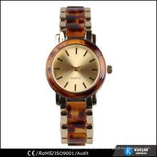 Relojes de calidad de cuarzo de acero inoxidable de vuelta